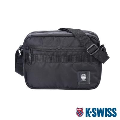 K-SWISS Heritage Shoulder Bag運動斜背包-黑