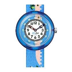 FlikFlak 兒童錶 ISLAGATOR 鱷魚小島手錶