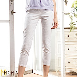 MONS 刺繡百搭彈性牛仔褲