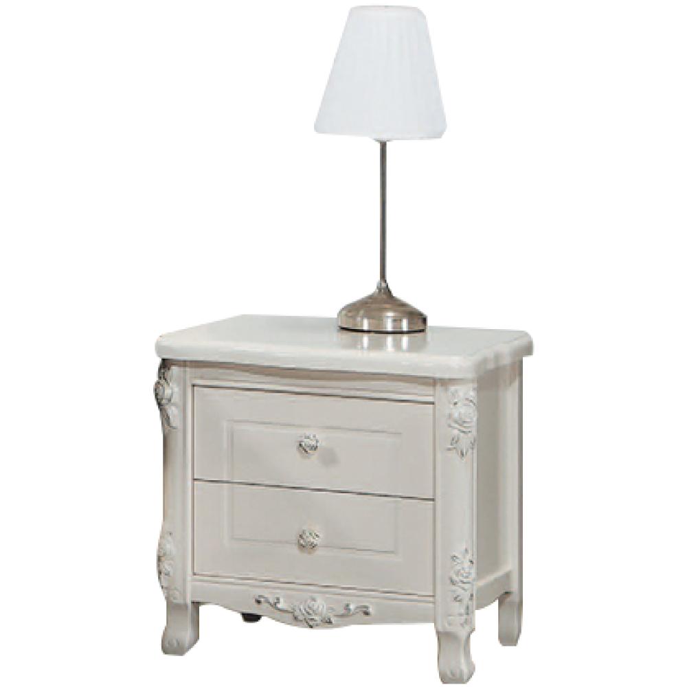 文創集 路西法法式奢華1.8尺二抽床頭櫃/收納櫃-53.5x43x54cm免組
