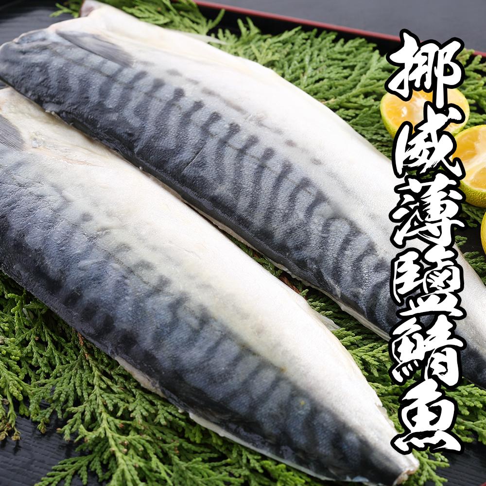 (團購組) 海鮮王 挪威薄鹽鯖魚 20片組( 140-160g±10%/片 )