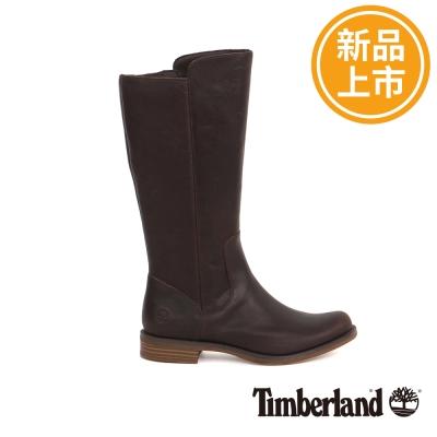 Timberland 女款深咖啡色皮革Magby高筒靴