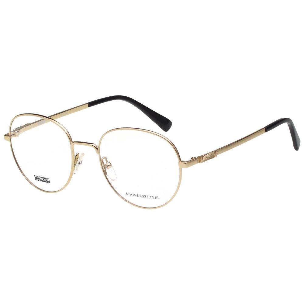 Moschino 圓框 光學眼鏡(金色)