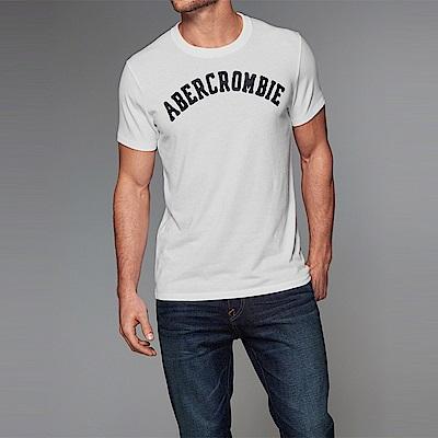 麋鹿 AF A&F 經典文字復刻短袖T恤-白色