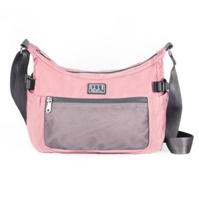 ELLE Active 透視網布系列-側背包/斜背包-大-粉紅色
