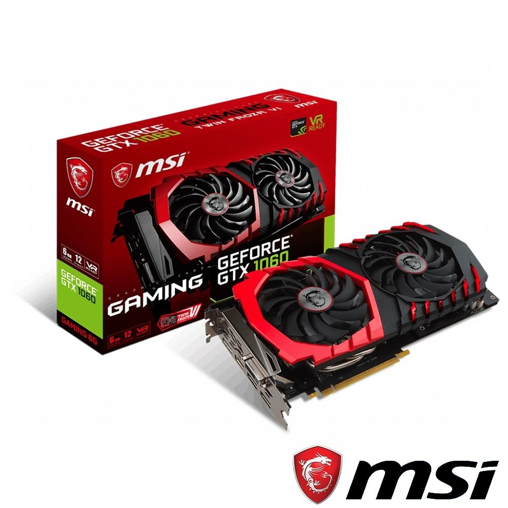 MSI微星 GeForce GTX 1060 GAMING 6G 顯示卡