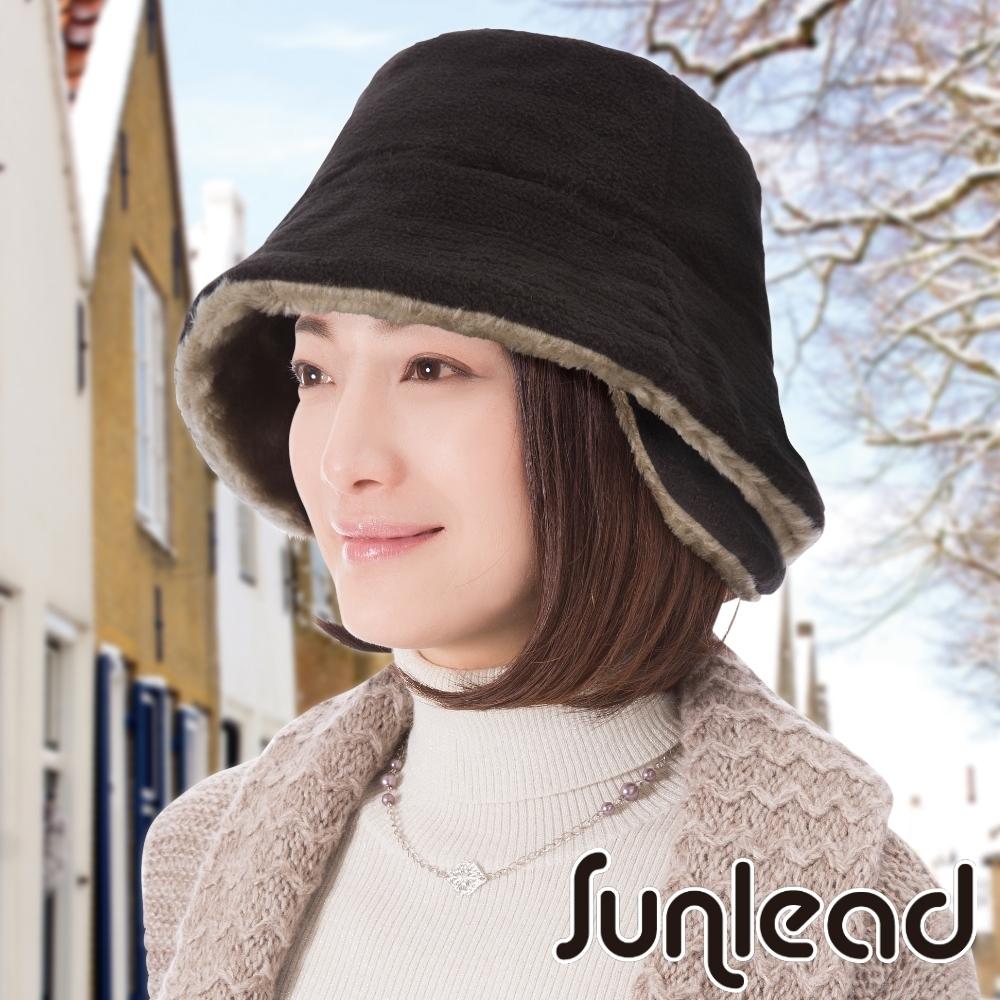 Sunlead 防寒護頸護耳Fleece保暖刷毛軟帽 (黑色)