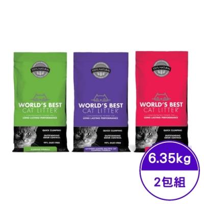 WORLD′BEST CAT LITTER沃貝專利環保玉米砂精典系列 14LB(6.35KG) (2包組)