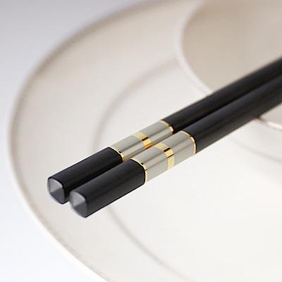 流金歲月合金筷5入-金