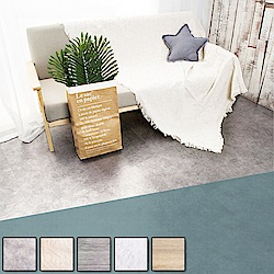 【Incare】進口仿大理石紋DIY黏貼式地板(24片/1.5坪/5色可選)
