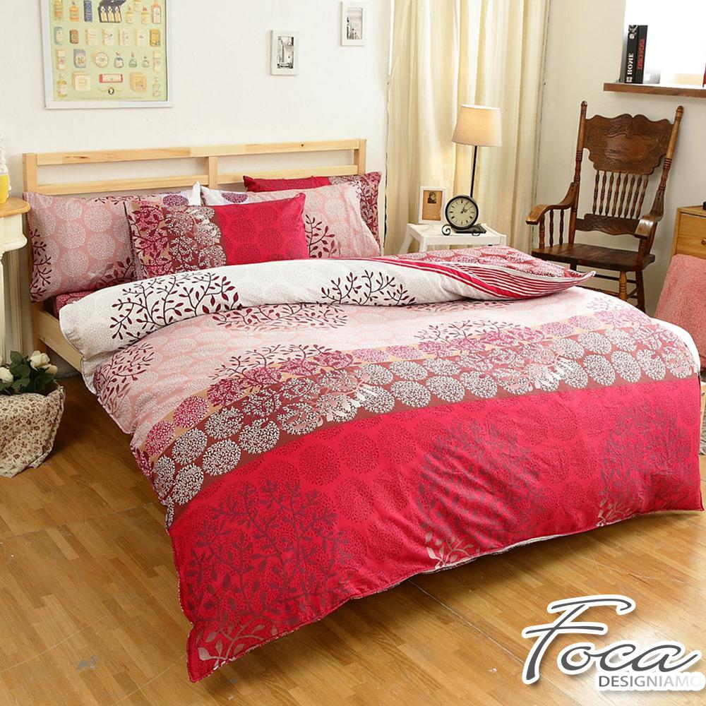 FOCA煙花絮夜-單人-100%精梳純棉三件式兩用被床包組