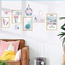 半島良品 DIY北歐風綠植樹葉無痕壁貼-  雅韵火烈鳥相框 AE02059 60X90cm