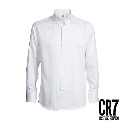 CR7-Slim Fit 白色雙扣領襯衫(8654-7200-01)