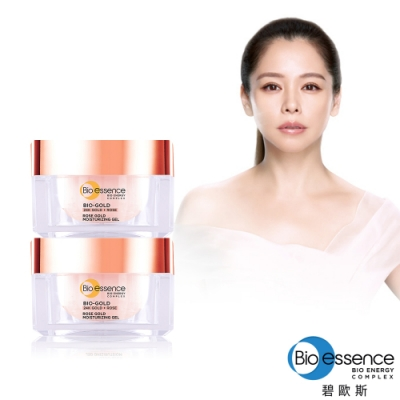 Bio-essence 碧歐斯 BIO金萃玫瑰黃金活顏保濕水凝霜40g (2入組)