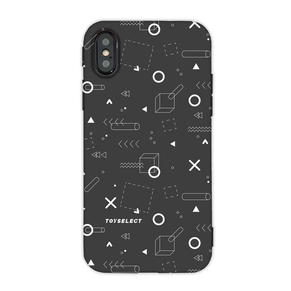 【TOYSELECT】iPhone SE2/7/8 TEN%圈叉設計手機殼:黑