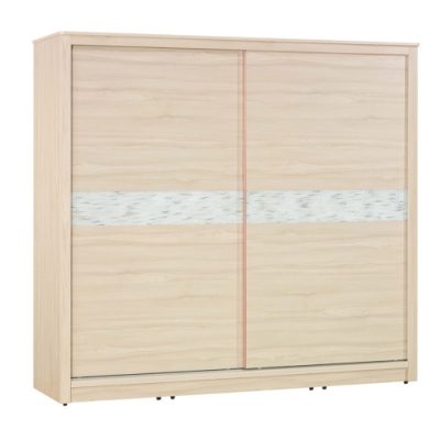 文創集 法斯 現代7.1尺推門衣櫃/收納櫃(吊衣桿+五抽屜)-211.5x60x199cm免組