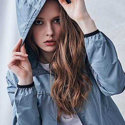 【時時樂限定】NAVY-立領風衣帽外套(兩色)