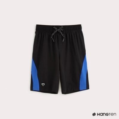 Hang Ten-童裝-ThermoContro-褲邊拼接機能短褲-黑