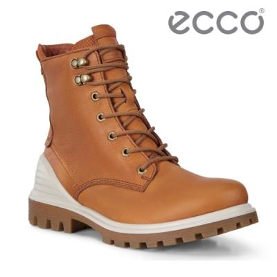 ECCO TRED TRAY W 趣闖英式工裝高筒防水靴 女-琥珀棕