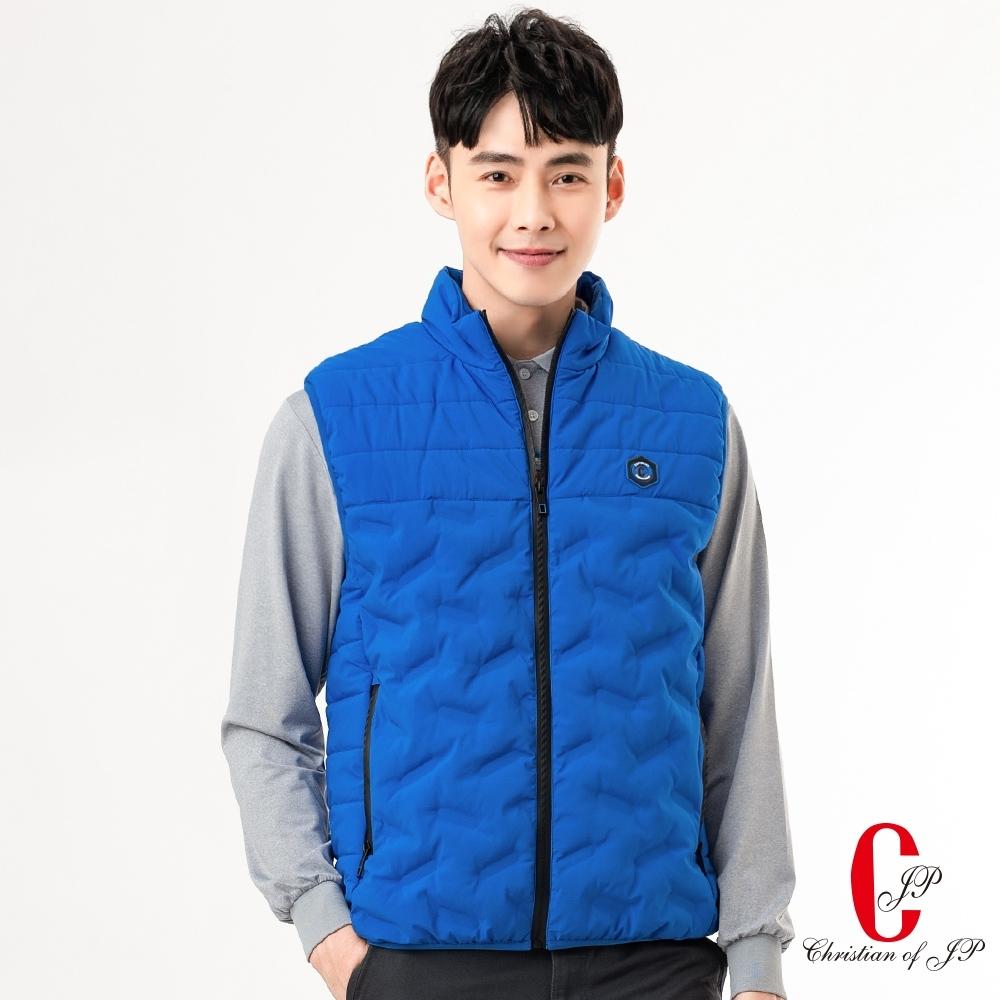 Chiristian 時尚機能休閒立領背心 _藍(JW802-55)