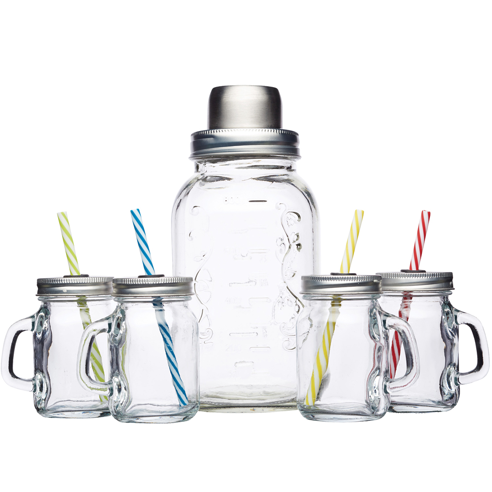 《KitchenCraft》玻璃雪克杯+梅森杯4入