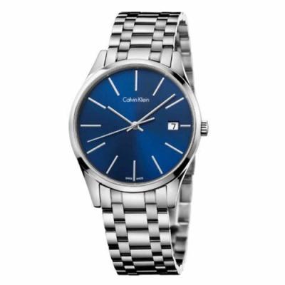 Calvin Klein Time 時光系列時尚藍色面盤手錶 K4N2314N