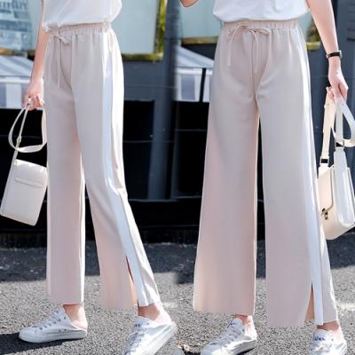 【韓國K.W.】(預購)明星款韓風運動女孩寬褲-3色