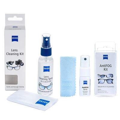 蔡司 Zeiss 專業鏡面抗菌清潔噴霧組/60ml + AntiFOG Kit 防霧噴霧組