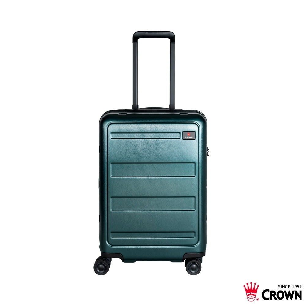 CROWN 皇冠 21吋拉鍊箱 雙層防盜拉鍊 墨綠