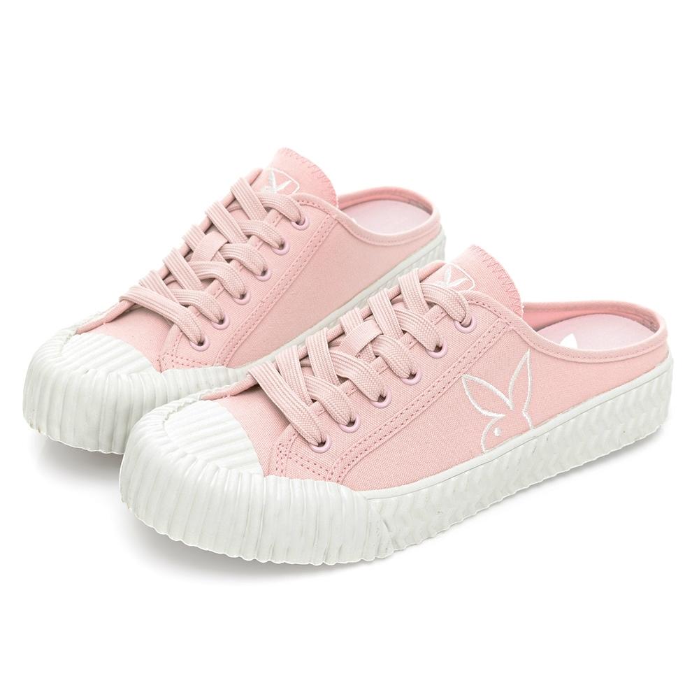 PLAYBOY  經典Cookies休閒穆勒鞋-粉-Y670899