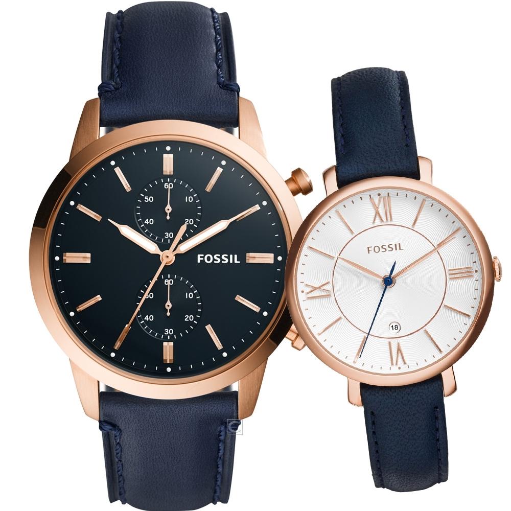 FOSSIL 深情綻放時尚對錶(FS5436+ES3843)