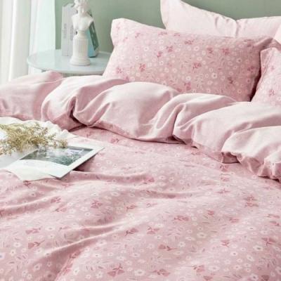 LAMINA 若柔(粉) 100%天絲枕套床包組 雙人