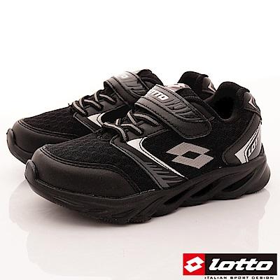 Lotto義大利運動鞋 中空風動跑鞋款 RSI700黑(中大童段)