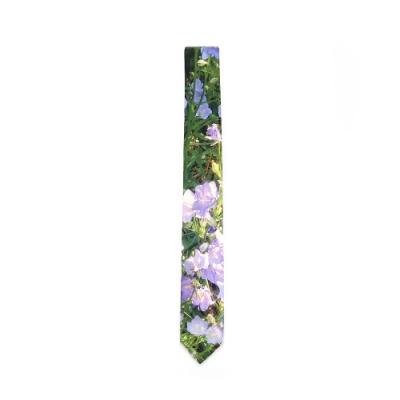 agnes b. 絲質印花領帶