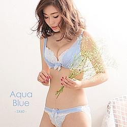aimerfeel 奢華蕾絲薄紗內衣-水藍色-577113-SX60