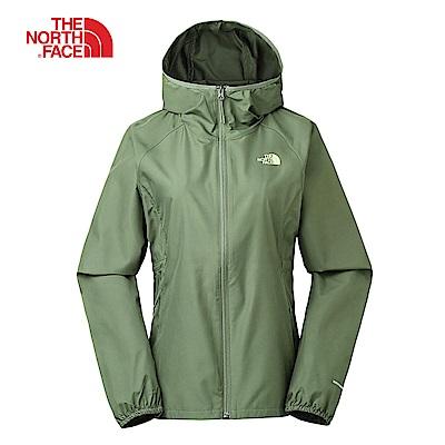 The North Face北面女款綠色防風防潑水可收納外套|3RL8ZCE