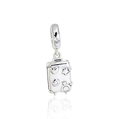 Pandora 潘朵拉 魅力鑲鋯琺瑯行李箱 垂墜純銀墜飾