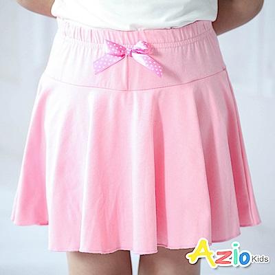 Azio Kids 短裙 點點蝴蝶結鬆緊波浪褲裙(粉)