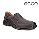ECCO FUSION柔軟舒適套入式正裝鞋 男-深棕