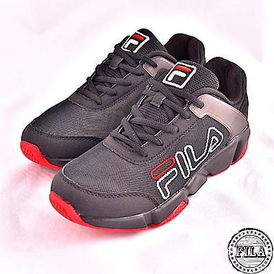 FILA 男女連號款  526系列 網布 慢跑鞋~黑