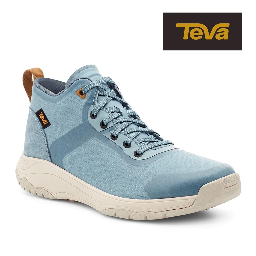 【TEVA】原廠貨 女 Gateway Mid 中筒防潑水輕量休閒鞋/健走鞋(阿羅納藍-TV1115193ARNA)