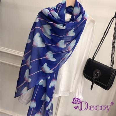 Decoy 靛藍鬱金香 精品棉柔透膚圍巾