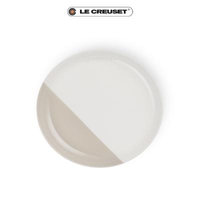 [結帳7折] LE CREUSET瓷器花蕾系列餐盤22cm-棉花白/肉豆蔻