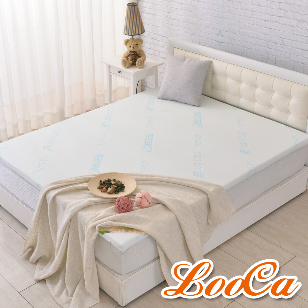 (618限定)LooCa水漾天絲5cm天然乳膠床墊-單人3尺