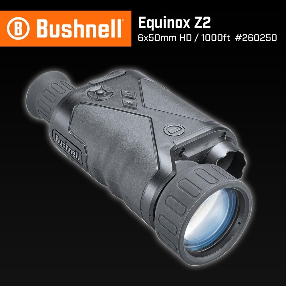 【美國 Bushnell 倍視能】Equinox Z2 新晝夜系列 6x50mm 數位日夜兩用紅外線單眼夜視鏡 260250 (公司貨)