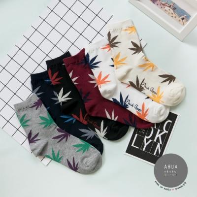 阿華有事嗎 韓國襪子 純色大麻葉襪 韓妞必備少女襪 正韓百搭純棉襪