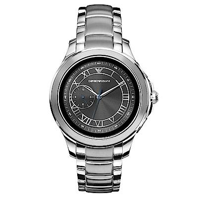 Emporio Armani CONNECTED觸控式智能連線手錶-銀/46mm