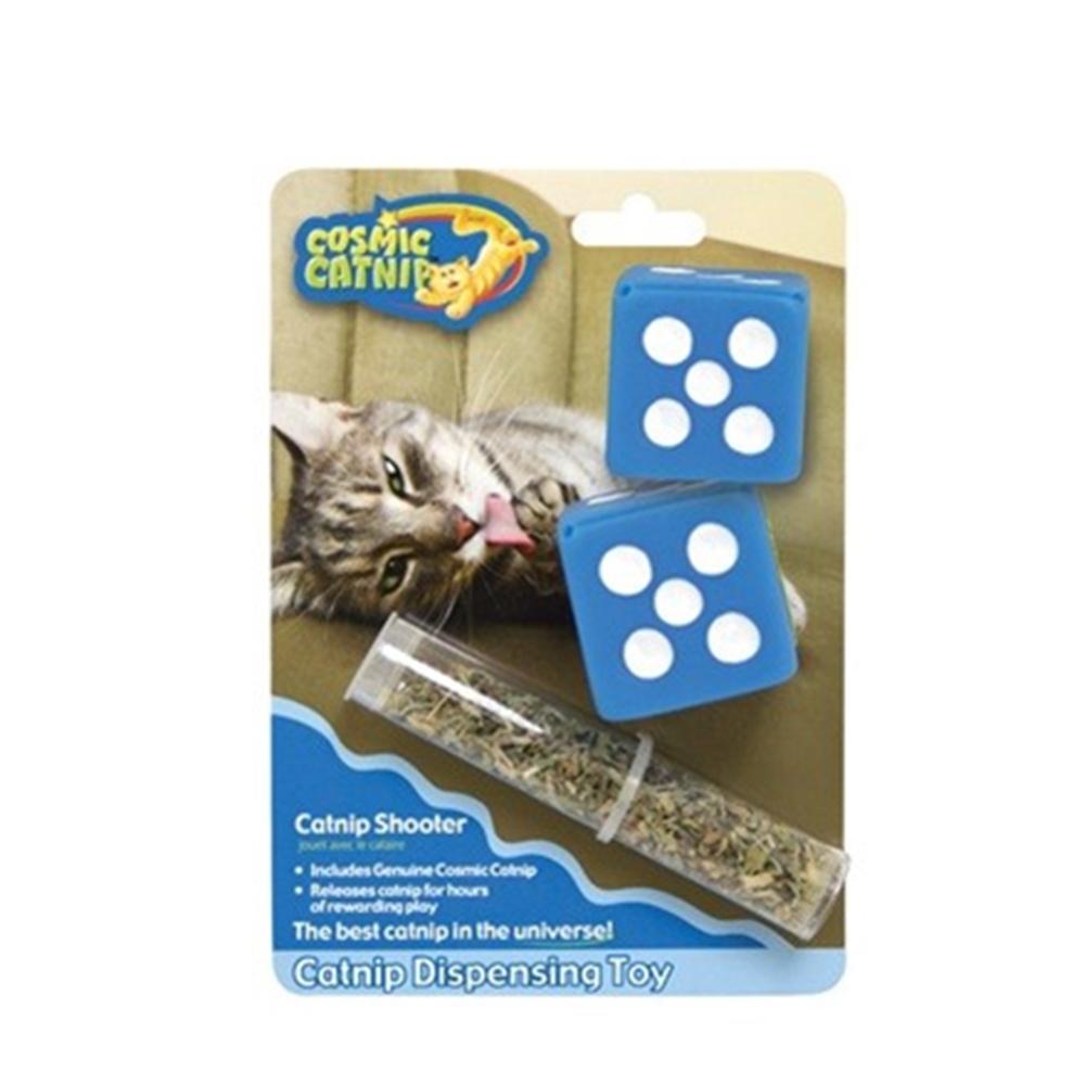 100%天然可填充橡膠貓草玩具 - 骰子