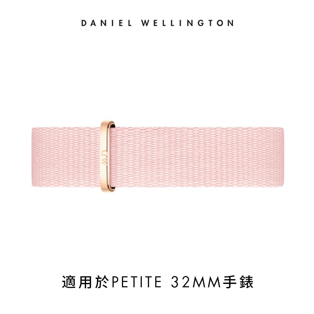 【Daniel Wellington】官方直營 14mm玫瑰金扣 櫻花粉織紋錶帶