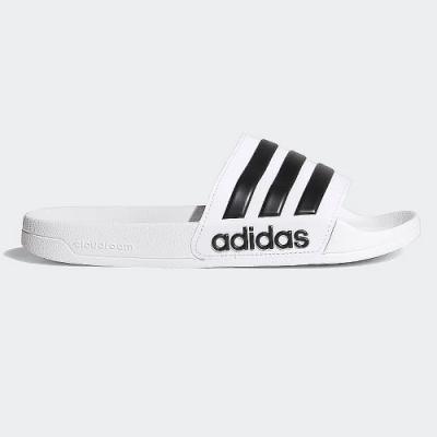 adidas 涼拖鞋 休閒 運動拖鞋 男女鞋 白 AQ1702 ADILETTE SHOWER